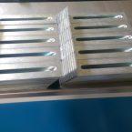 Лазерно рязане и огъване на неръждаеми планки